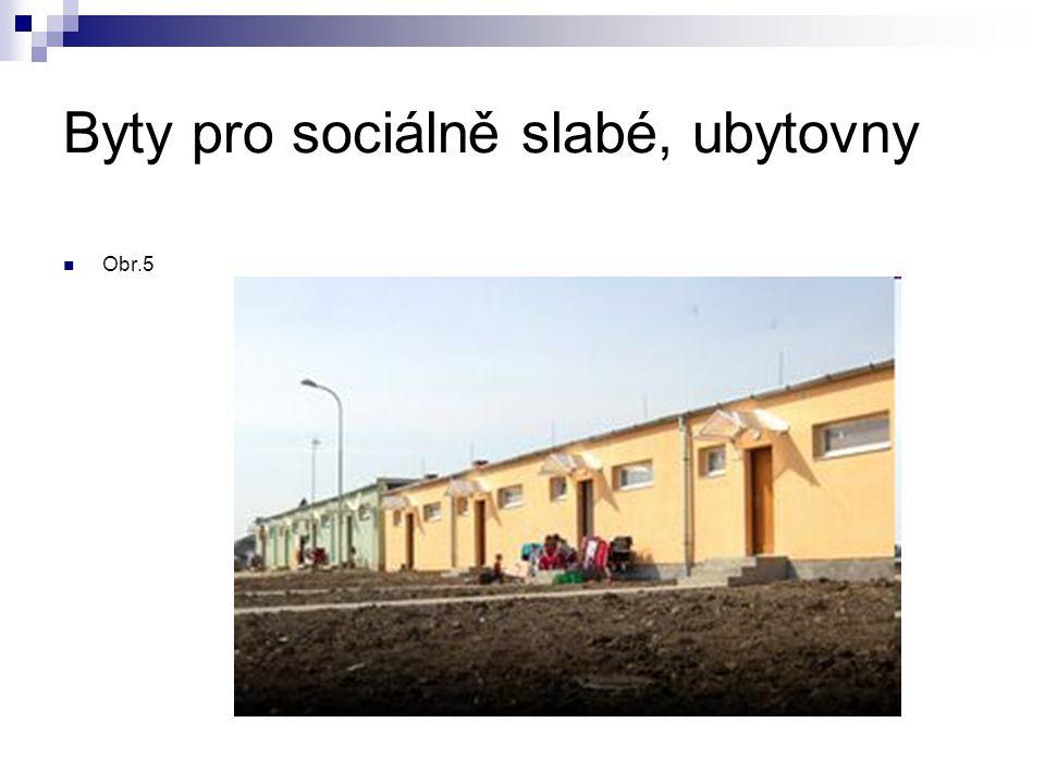 Byty pro sociálně slabé, ubytovny Obr.5