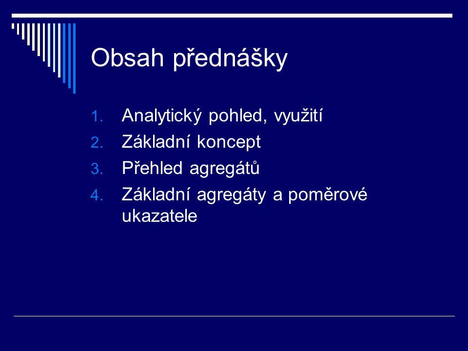 Obsah přednášky 1.Analytický pohled, využití 2. Základní koncept 3.