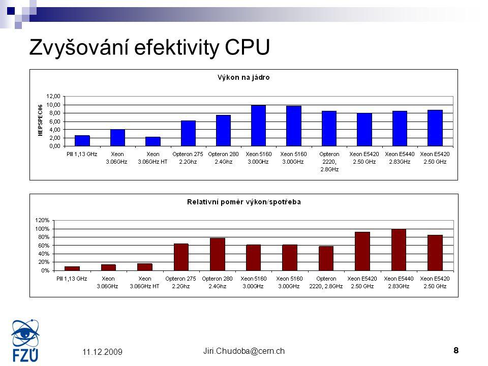 Jiri.Chudoba@cern.ch8 11.12.2009 Zvyšování efektivity CPU
