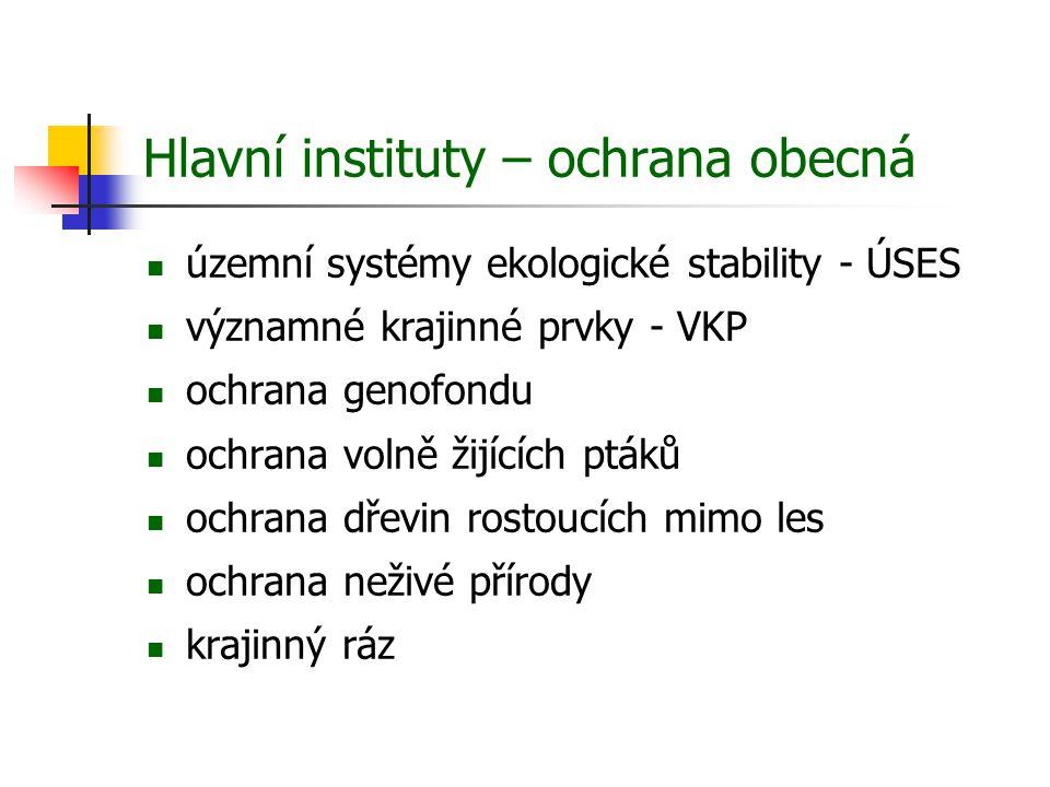 Hlavní instituty: zvláštní ochrana územní 1.