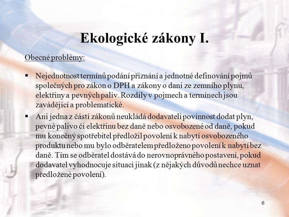 7 Ekologické zákony II.