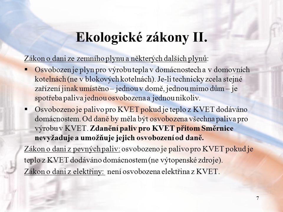 8 Ekologické zákony III.