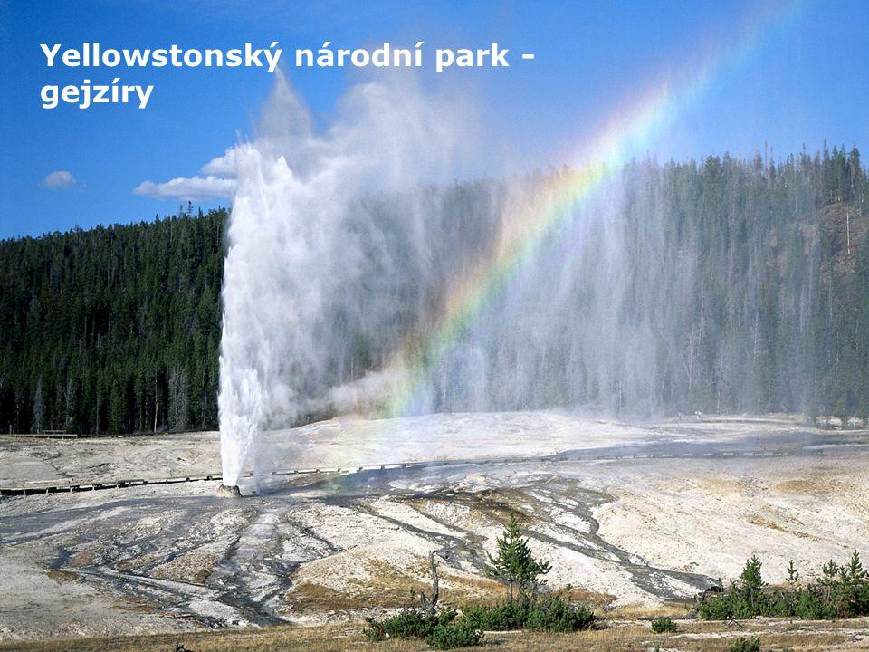 Yellowstonský národní park - gejzíry