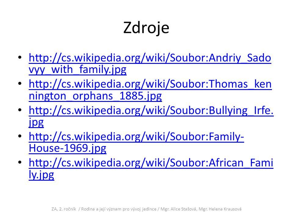 Zdroje http://cs.wikipedia.org/wiki/Soubor:Andriy_Sado vyy_with_family.jpg http://cs.wikipedia.org/wiki/Soubor:Andriy_Sado vyy_with_family.jpg http://