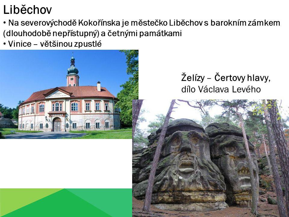 Liběchov Na severovýchodě Kokořínska je městečko Liběchov s barokním zámkem (dlouhodobě nepřístupný) a četnými památkami Vinice – většinou zpustlé Žel