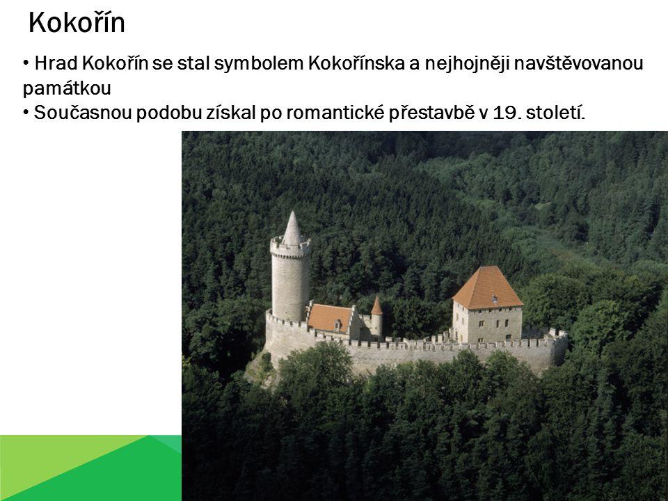 Kokořín Hrad Kokořín se stal symbolem Kokořínska a nejhojněji navštěvovanou památkou Současnou podobu získal po romantické přestavbě v 19. století.