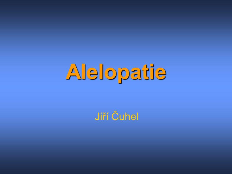 Alelopatie Jiří Čuhel