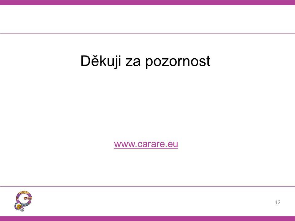 Děkuji za pozornost www.carare.eu 12