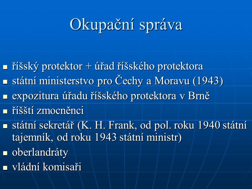Využití pracovních zdrojů a zavedení železné pracovní kázně + 1939 všeobecná pracovní povinnost + 1941 systém pracovních knížek + komplex pracovních táborů a kárných pracovních táborů + tzv.