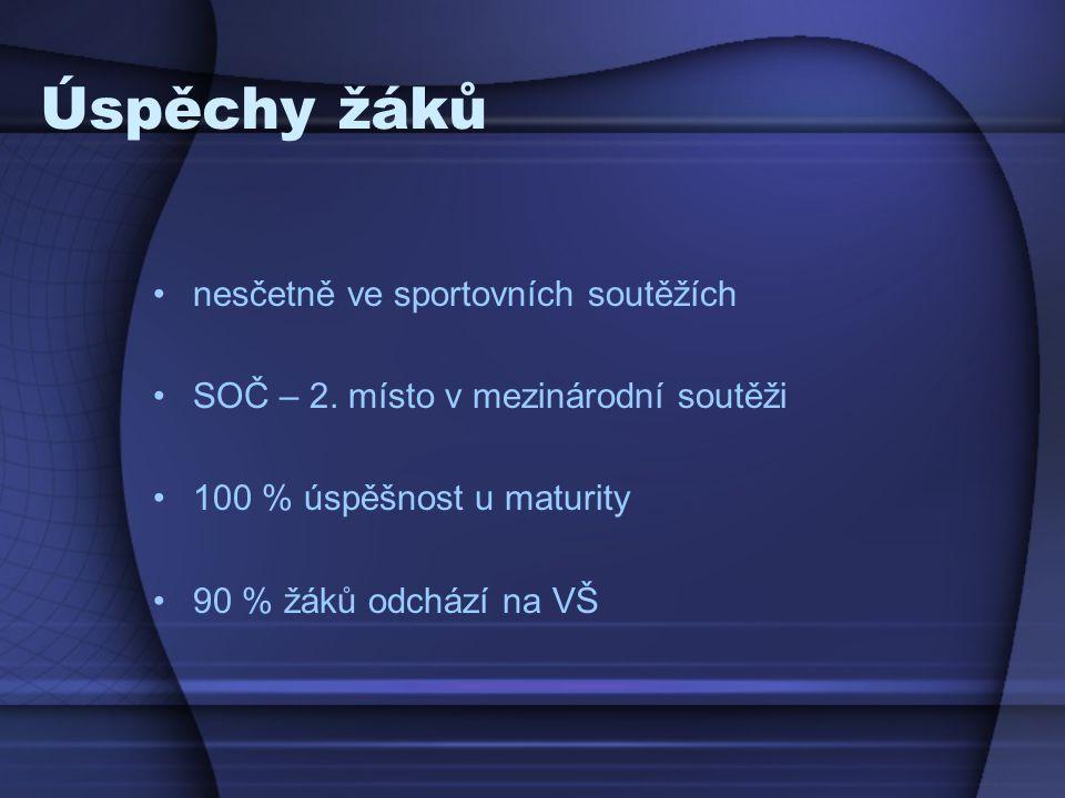 Úspěchy žáků nesčetně ve sportovních soutěžích SOČ – 2.