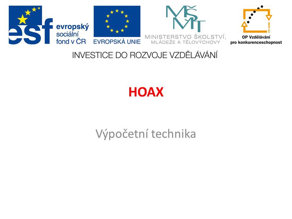 HOAX Výpočetní technika