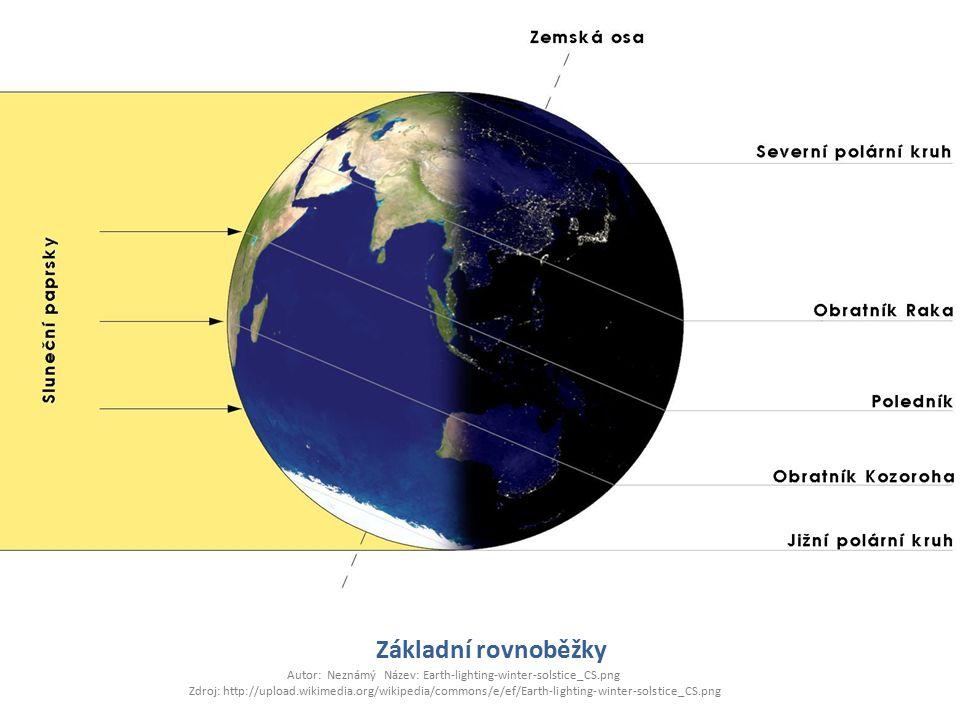 Základní rovnoběžky Autor: Neznámý Název: Earth-lighting-winter-solstice_CS.png Zdroj: http://upload.wikimedia.org/wikipedia/commons/e/ef/Earth-lighting-winter-solstice_CS.png