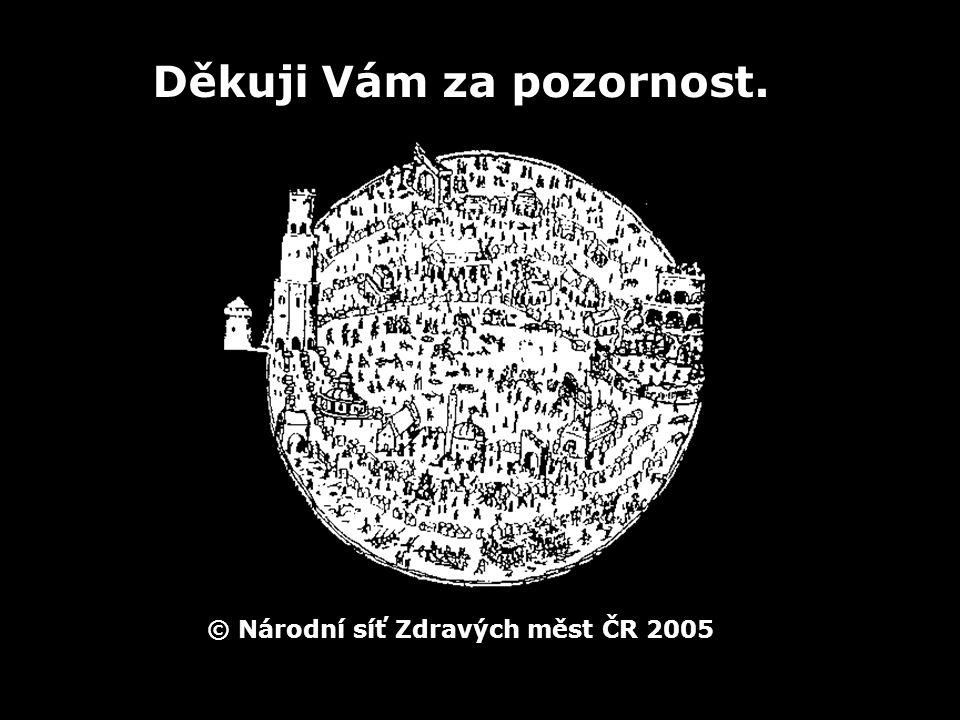 © Národní síť Zdravých měst ČR 2005 Děkuji Vám za pozornost.