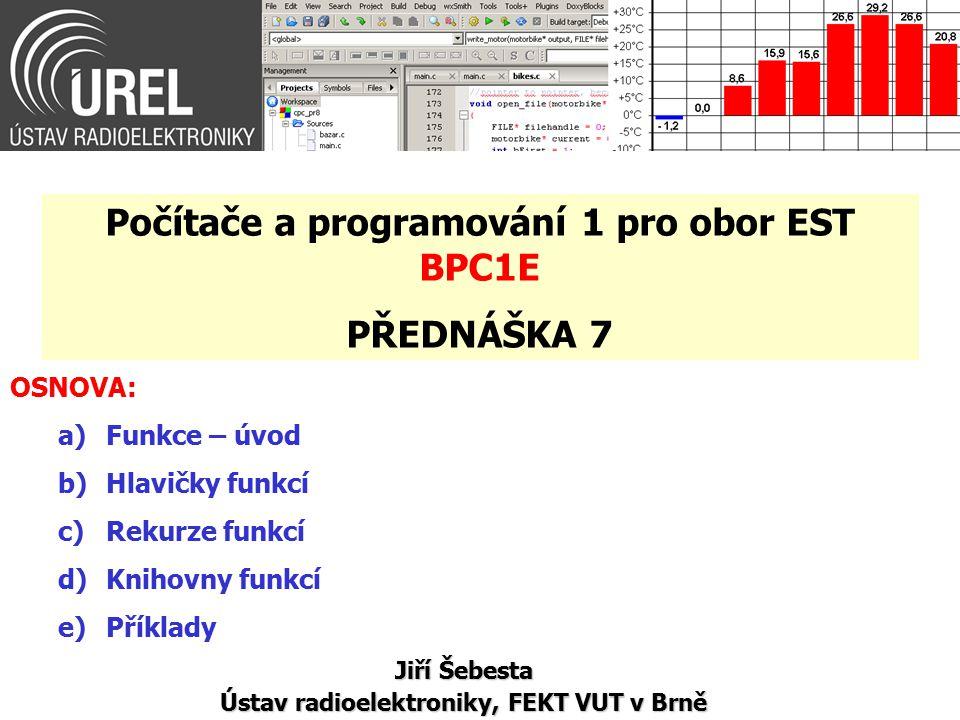 Knihovny funkcí (4/10) Př.