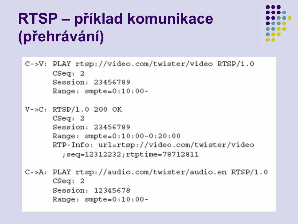 RTSP – příklad komunikace (přehrávání)