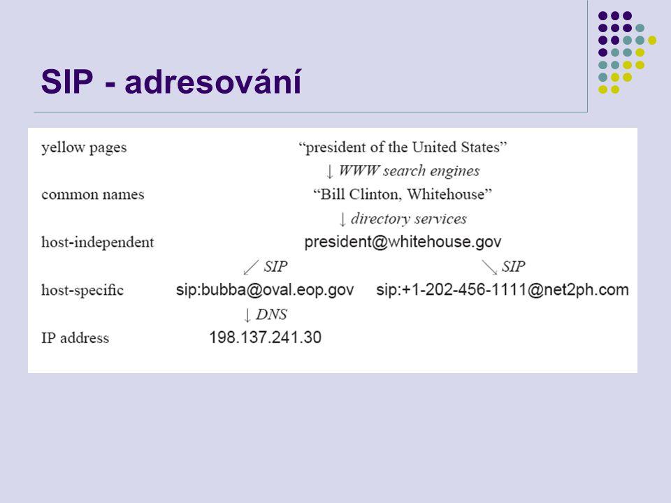 SIP - adresování