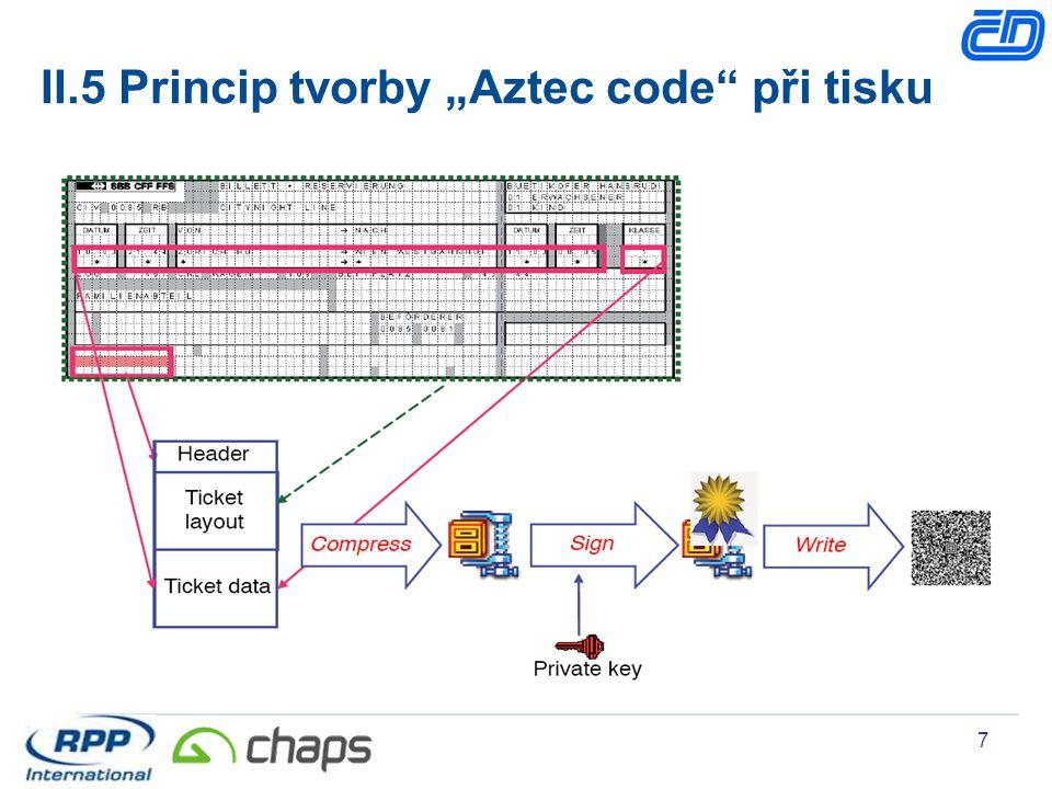 "7 II.5 Princip tvorby ""Aztec code"" při tisku"