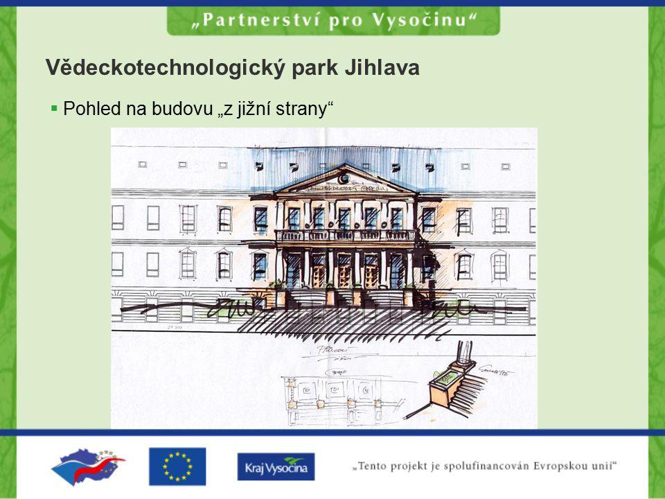 """Vědeckotechnologický park Jihlava  Pohled na budovu """"z jižní strany"""""""