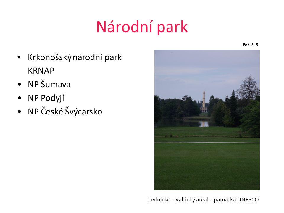 Národní park Krkonošský národní park KRNAP NP Šumava NP Podyjí NP České Švýcarsko Lednicko - valtický areál - památka UNESCO Fot. č. 3