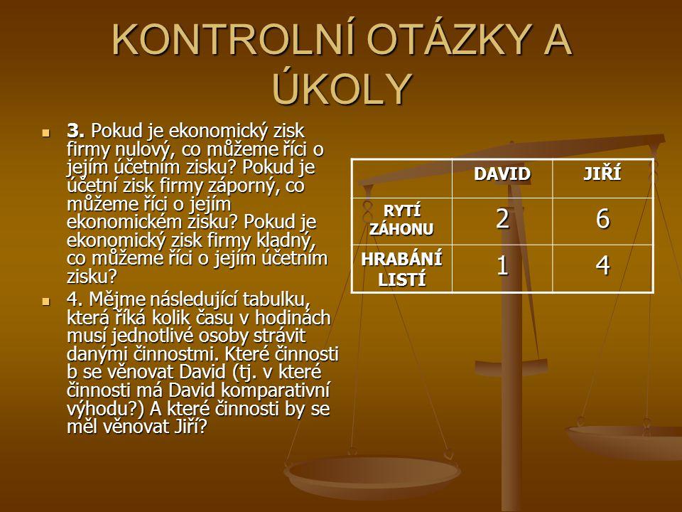 KONTROLNÍ OTÁZKY A ÚKOLY 5.