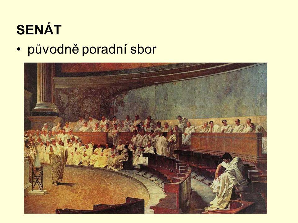 SENÁT původně poradní sbor