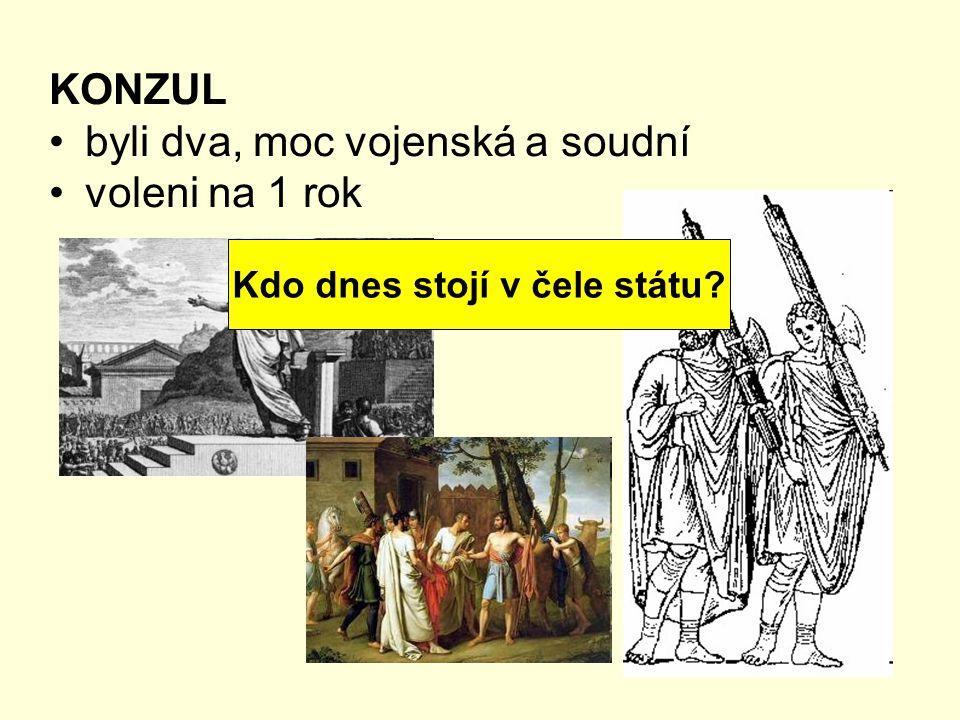DIKTÁTOR neomezená moc voleni v případě nebezpečí (na půl roku) Kdo je nejvyšší vojenský velitel ČR?