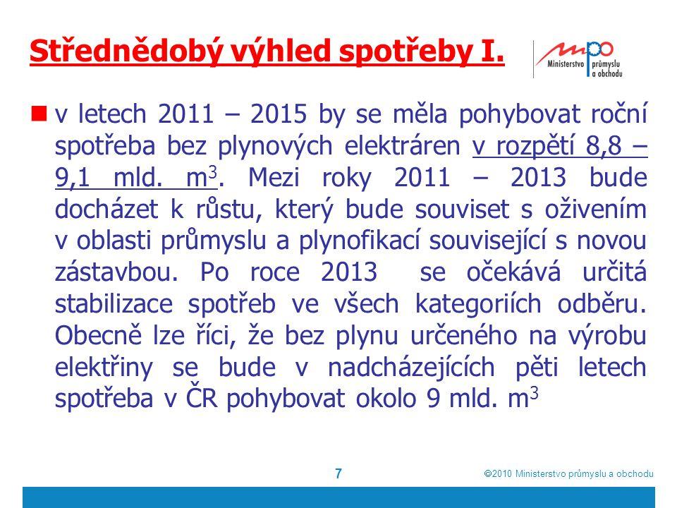  2010  Ministerstvo průmyslu a obchodu Střednědobý výhled spotřeby I.