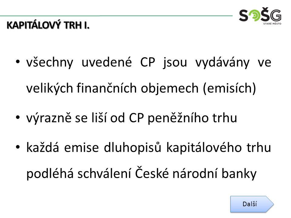 KAPITÁLOVÝ TRH I.