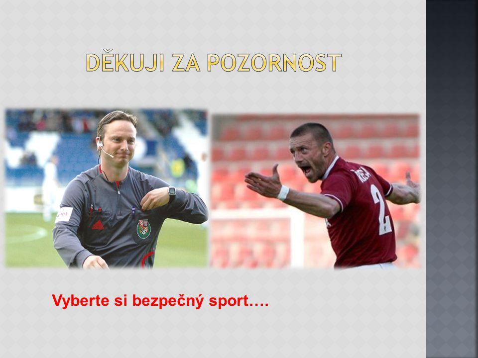 Vyberte si bezpečný sport….