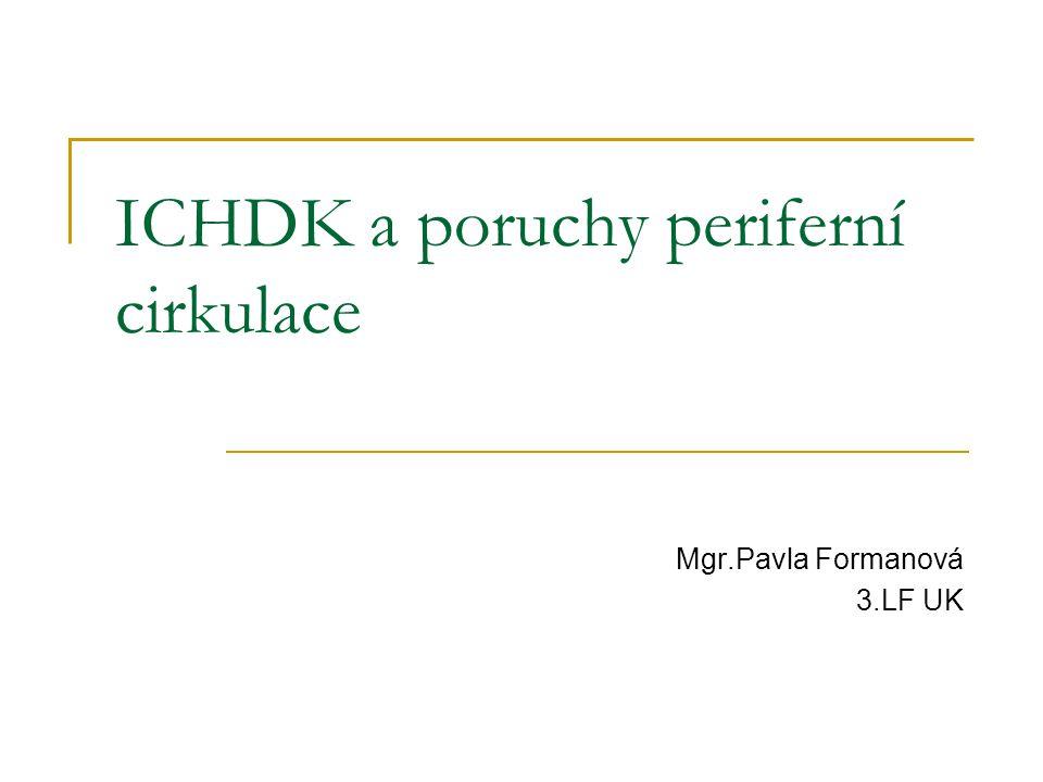 ICHDK a poruchy periferní cirkulace Mgr.Pavla Formanová 3.LF UK