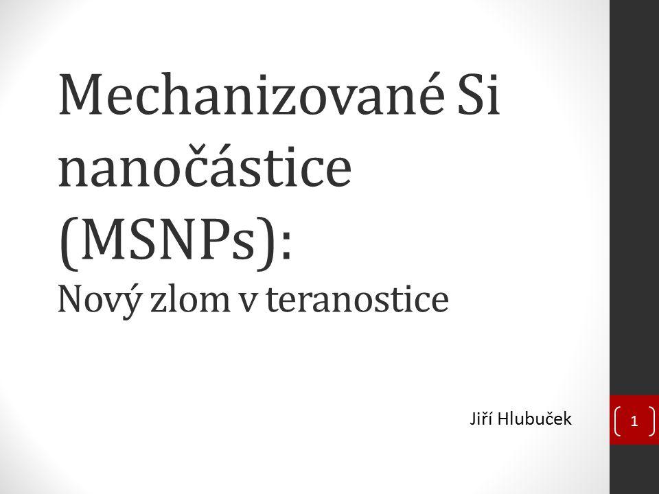 Pokrok v oblasti biologie Intracelulární dodání léčiv pomocí SNPs Bez vnějšího mechanismu Pouze hydrofobní léčiva (paclitaxel – cytostatikum) Prázdné SNPs – netoxická vozidla pro dodávání léčiv do buněk První úspěšné fungování MSNPs v buňkách Azobenzeny a campothecin (CPT), ozáření 413 nm, povrchové 12 Apoptóza pankreatických rakovinných buněk důsledkem uvolnění CPT po ozáření 1 min(a), 3 min(b), 5 min(c), 10 min(d) [1]