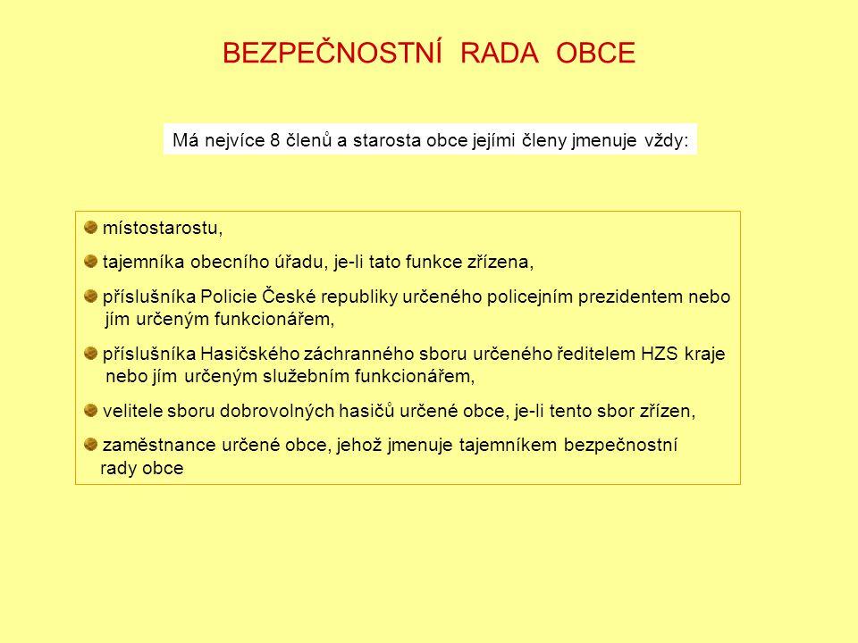 KRIZOVÝ ŠTÁB URČENÉ OBCE (KRAJE) § 13 nařízení vlády č.