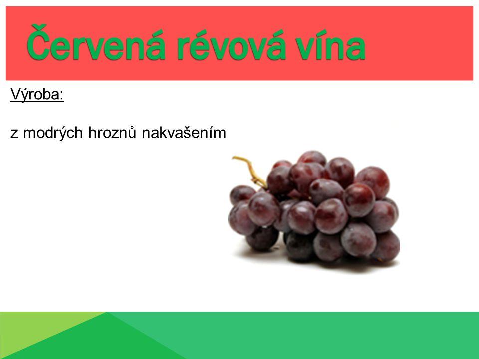 -révová vína stolní -révová vína jakostní -révová vína s přívlastkem