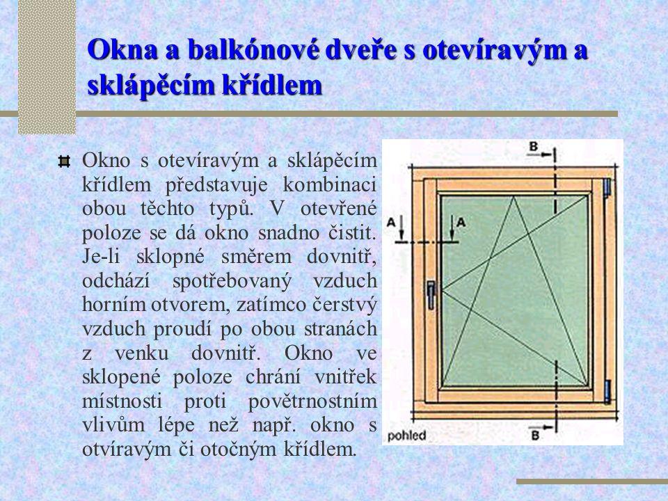 Balkónové dvoukřídlé dveře s otevíravým křídlem a s otevíravým a sklápěcím křídlem B – Důležité je kvalitní napojení na vnější plochu balkónu. B