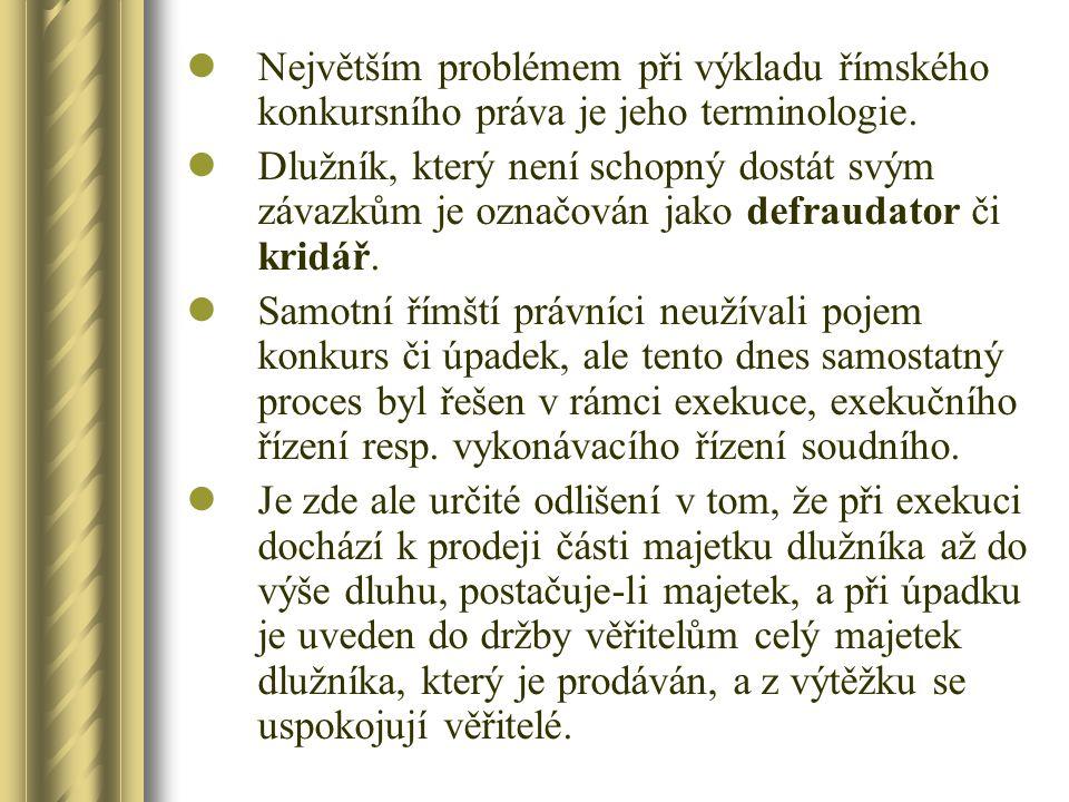 Počátky vývoje konkursního řízení v Čechách Konec 16.