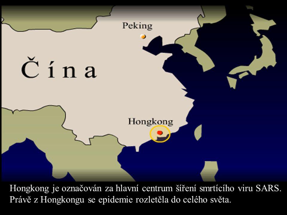Hongkong je označován za hlavní centrum šíření smrtícího viru SARS. Právě z Hongkongu se epidemie rozletěla do celého světa.