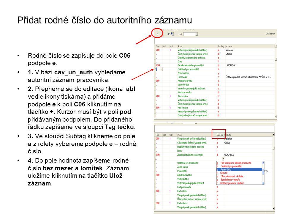 Spojování autorit Záznamy vložíme dvojklikem do košíku Posunu správný záznam nahoru Pravým tlačítkem myši otevřu menu Vyberu Spojení záznamů Vytvoří se protokol
