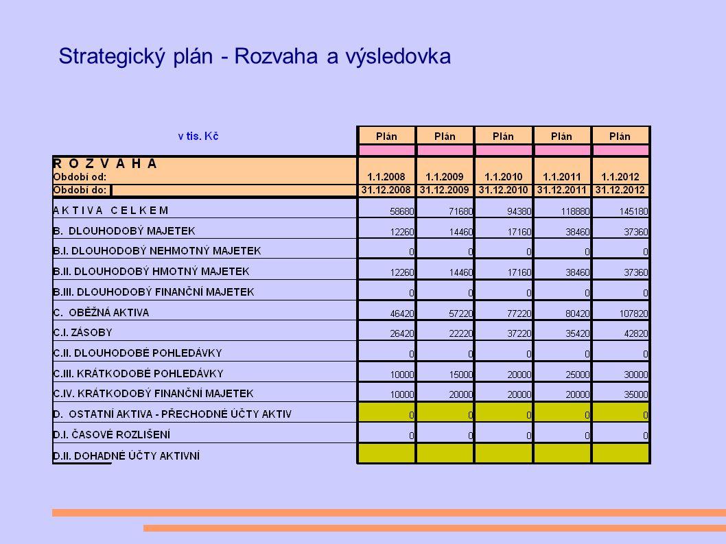 Strategický plán - Rozvaha a výsledovka