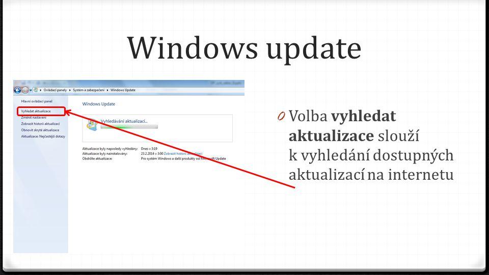 Windows update 0 Po dokončení vyhledávání se zobrazí nenainstalované aktualizace