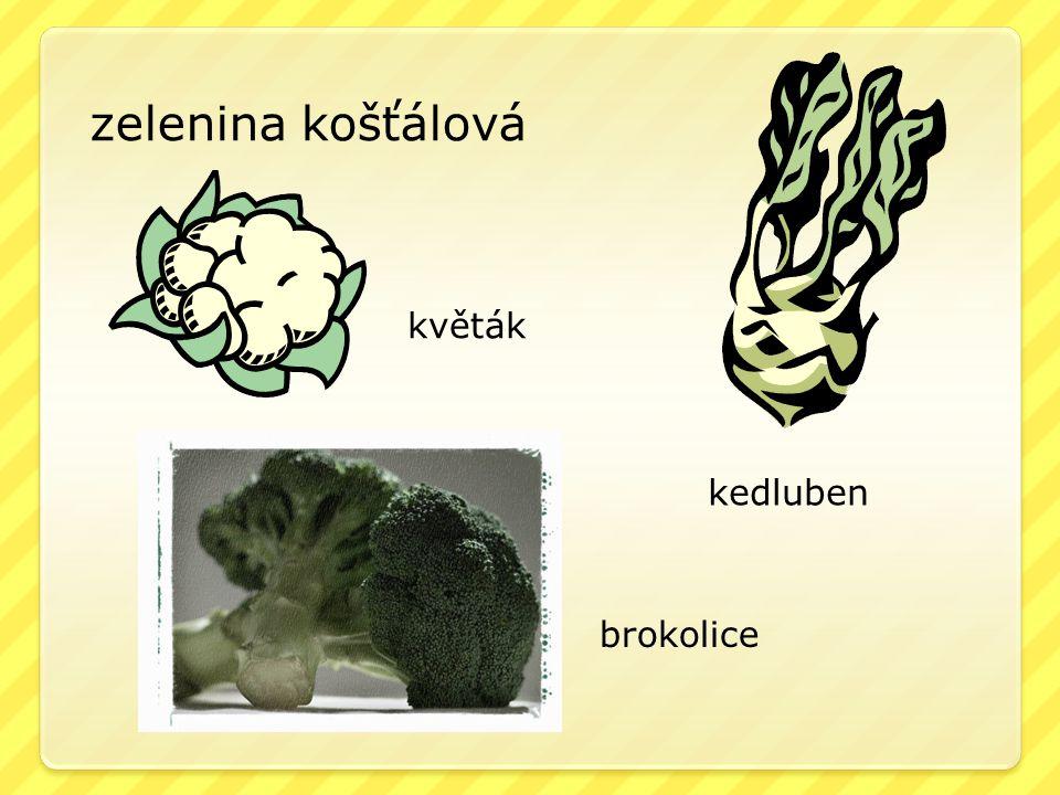 zelenina košťálová květák kedluben brokolice