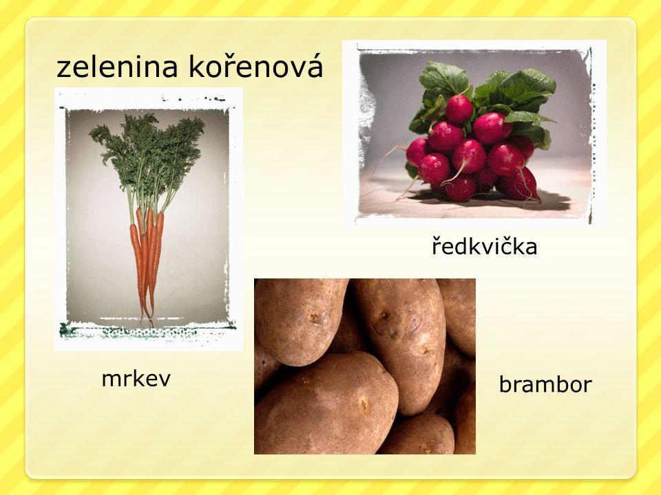 zelenina kořenová mrkev ředkvička brambor