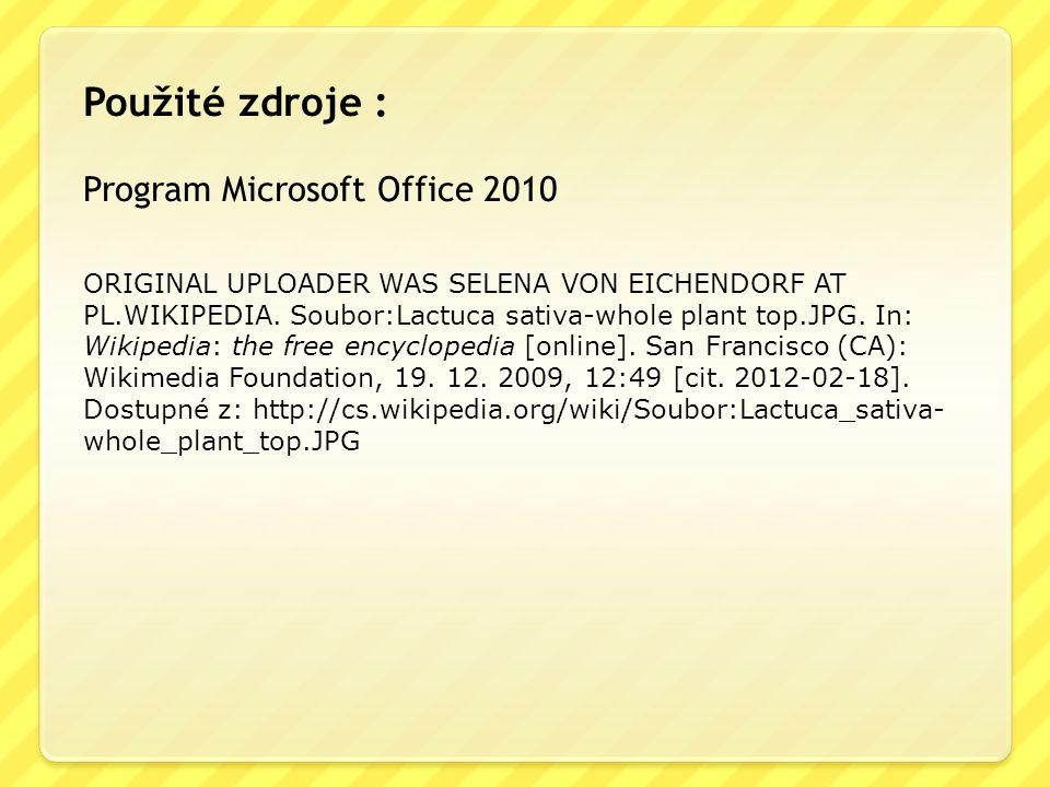 ORIGINAL UPLOADER WAS SELENA VON EICHENDORF AT PL.WIKIPEDIA. Soubor:Lactuca sativa-whole plant top.JPG. In: Wikipedia: the free encyclopedia [online].