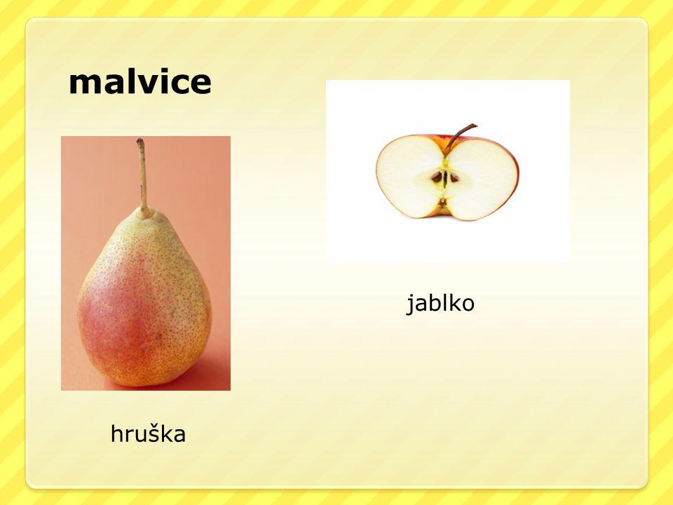 malvice hruška jablko