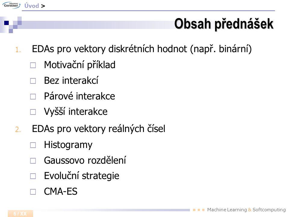 EDA pro vektory reálných čísel