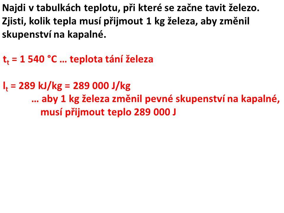 Pomocí tabulek urči, zda je možno roztavit kousek zinku v alobalové misce.