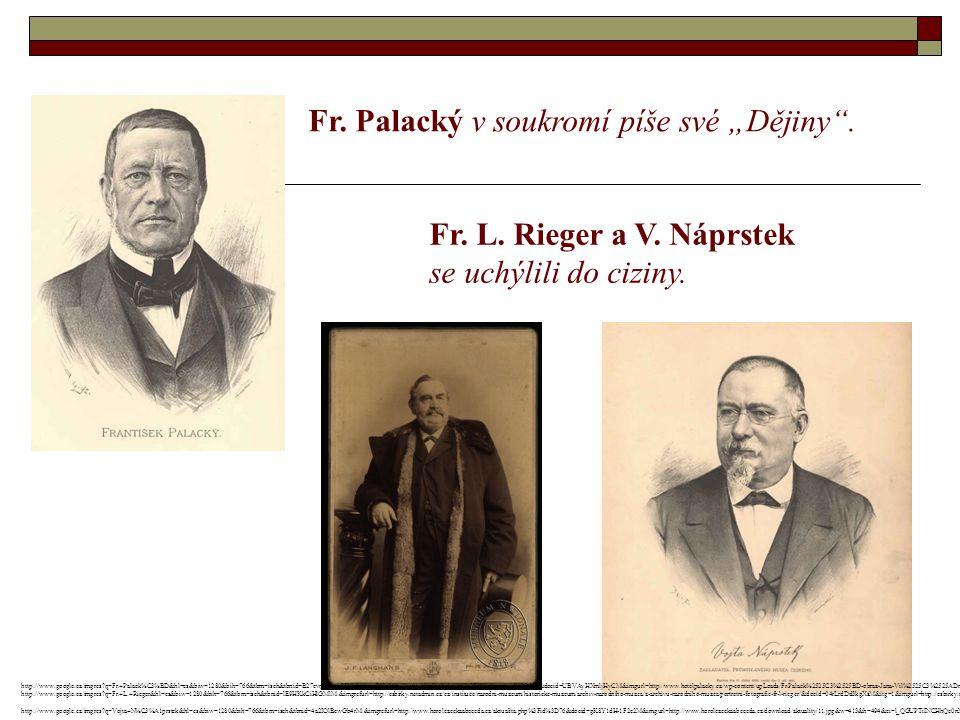 """Fr. Palacký v soukromí píše své """"Dějiny . Fr. L."""