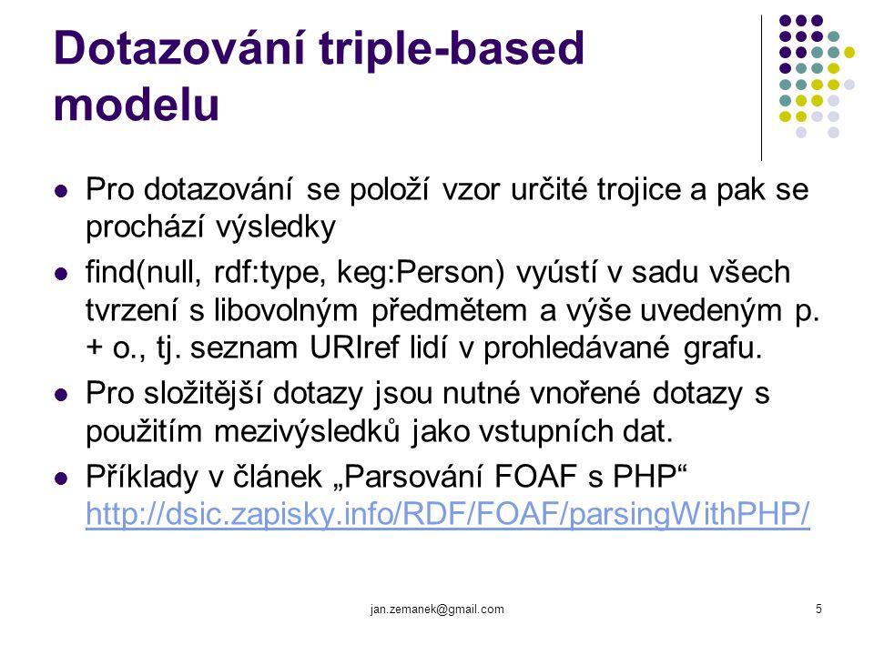 jan.zemanek@gmail.com6 Triple-based model – příklad 1.
