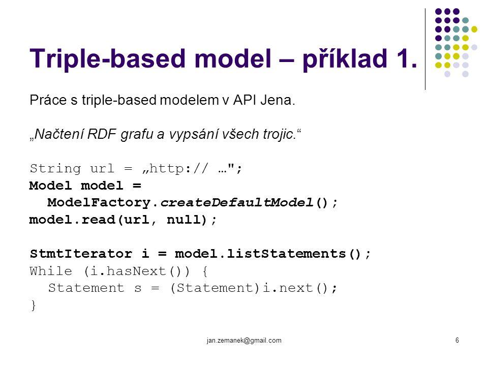 jan.zemanek@gmail.com7 Triple-based model – příklad 2.