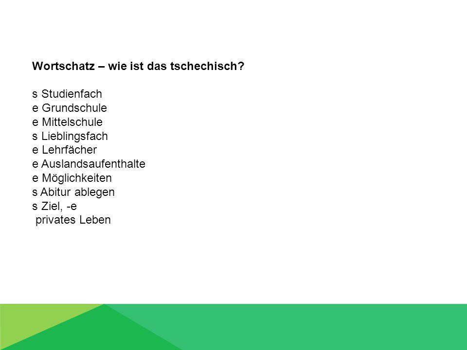 Wortschatz – wie ist das deutsch.