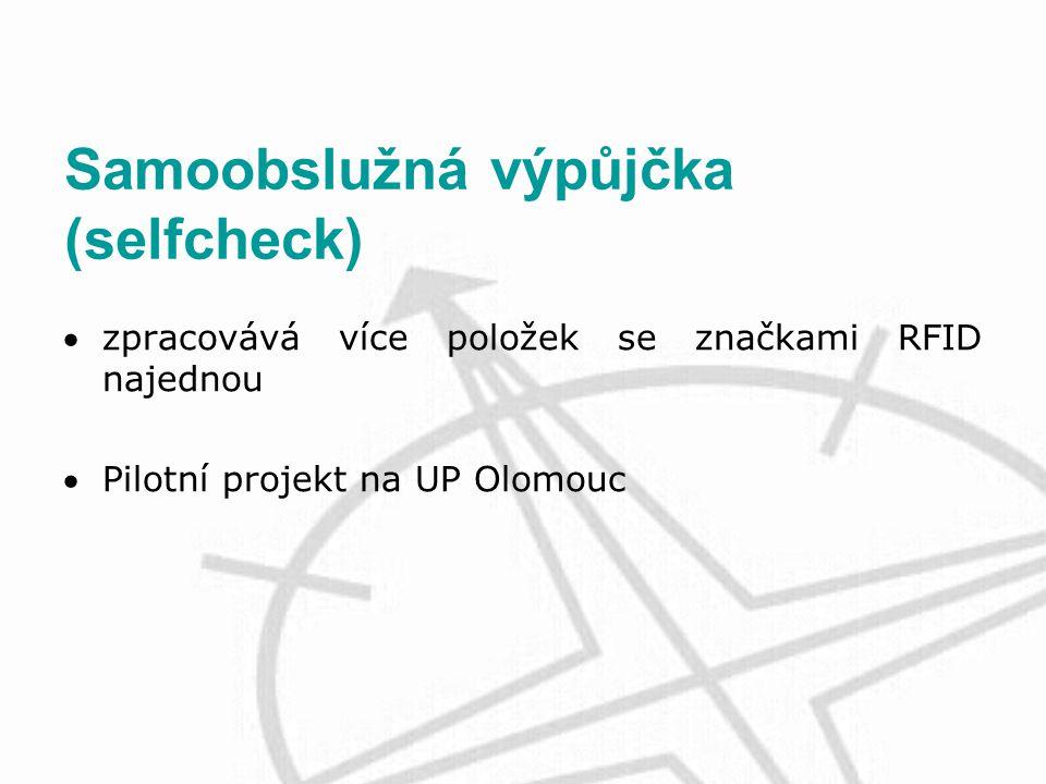 Samoobslužná výpůjčka (selfcheck) zpracovává více položek se značkami RFID najednou Pilotní projekt na UP Olomouc